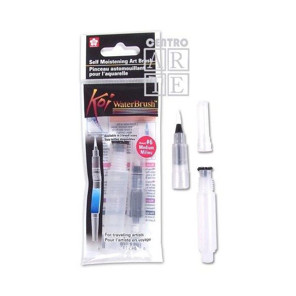 KOI WATER BRUSH LARGE 6 (PINCEL MEDIANO CON DEPOSITO)