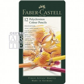 CAJA FABER CASTELL 12 LAPICES POLICROMOS