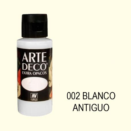 ARTE DECO VALLEJO 60ML EXTRA OPACO 002 BLANCO ANTIGUO