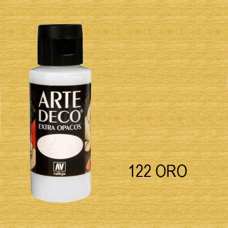 ARTE DECO VALLEJO 60ML  METALICO 122 ORO